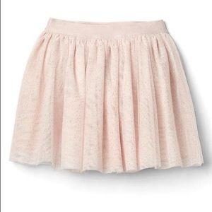 Gap kids flippy pink tulle skirt- pastel pink